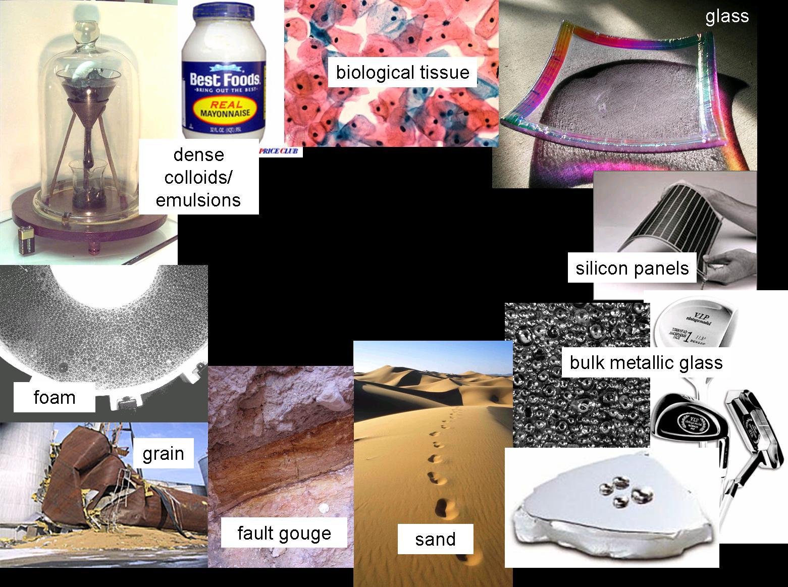 Amorphous materials