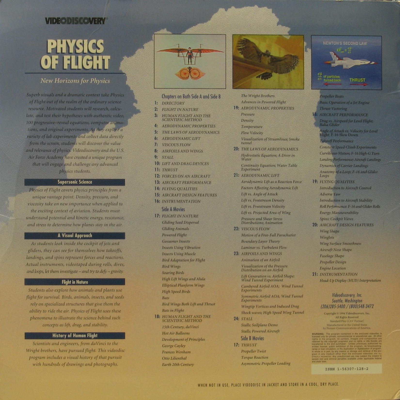 LaserDisc Database • View topic  VIDEODISCOVERY Physics of Flight